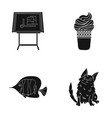 care rest cafe and other web icon in black style vector image vector image