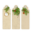 christmas bookmark vector image vector image