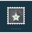 Christmas Star flat stamp vector image vector image