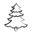 christmas tree pine ornament cartoon icon vector image