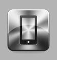 Chrome button vector image vector image