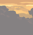 clouds on the sky vector image vector image
