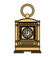 color mantel clock manual structure design vector image