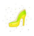 colored cartoon high-heel shoes with decoration vector image vector image