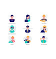 colorful flat design icons set different vector image vector image
