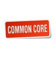 Common core square sticker on white