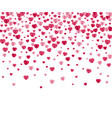 confetti hearts background vector image vector image