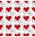 curly or swirly background with 3d hearts vector image