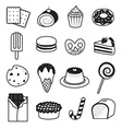 Desserts and Sweets Collection vector image vector image