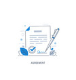 document signing agreement vector image