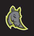 donkey head sport mascot vector image