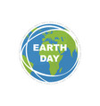 earth day land map happy earth day flat style vector image vector image