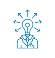 engineer-developer linear icon concept engineer vector image vector image