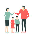 family of people3 vector image vector image
