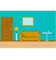 Flat for sitting-room vector image