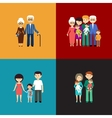 Flat set of family life vector image vector image