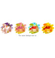 four seasons set house with winter spring vector image