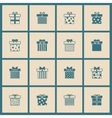 Gift boxes icons set in beige and blue vector image vector image