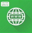 go to web icon business concept network internet vector image