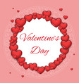 greating card template valentine day heart mock up vector image