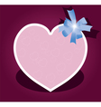 greeting card with bow for valentine day vector image