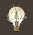hand drawn sketch of lightbulb in color isolated vector image vector image