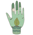 hand ecology vector image