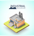 industrial building background vector image vector image