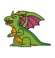 isolated dragon cartoon design vector image