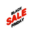 isometric black friday sale text with vector image vector image