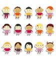 kids sticker set emoji vector image vector image