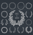 Laurels and Wreaths Collection vector image vector image