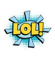 lol comic word vector image vector image