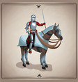 medieval warrior with horse vector image