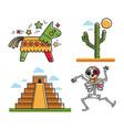 mexican national symbols vector image vector image