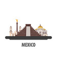 mexico travel location vacation or trip and vector image