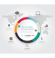 Modern infographic for business concept vector image vector image