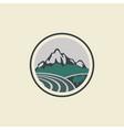 mountain landscape logo vector image vector image