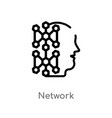 outline network icon isolated black simple line vector image vector image