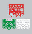 papel picado set mexican paper decorations for vector image vector image