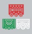 papel picado set mexican paper decorations vector image vector image