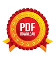 PDF download icon Upload file button vector image vector image
