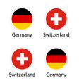 political union switzerland and germany vector image vector image