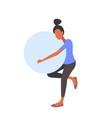 pregnant woman holding gymnastic ball girl doing vector image vector image