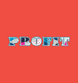 profit concept word art vector image vector image