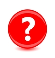 Question icon on red background vector image