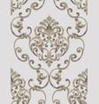 rococo baroque texture pattern floral vector image vector image