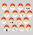 saint nicolas emoticon simple icon flat design vector image