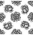 seamless pattern with black and white decorative vector image