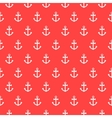 Seamless pattern with nautical anchors vector image